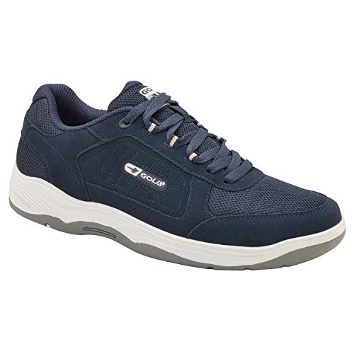 Gola Mens Belmont Wide Fit Suede Shoes - Navy Blue - UK ()