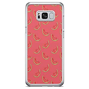 Samsung Galaxy S8 Transparent Edge Phone Case Watermelon Phone Case Fruit Pattern Samsung S8 Cover with See through edges