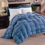 Natural Comfort Allergy-Shield s TM Luxurious Queen Down Alternative Comforter, Blue