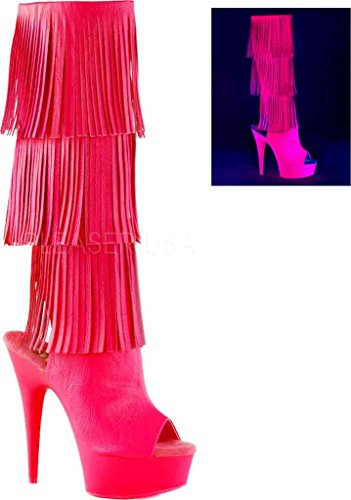 Neon Leather Del2019 M H H Pleaser 3 Women's Pink Faux Boot Neon Gpu Pink 6SWgHaYHvq