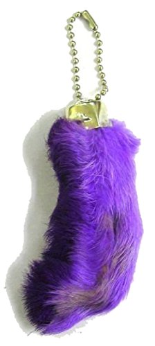 6 Pieces of NOVELTEES Purple Color Novelty Real Rabbit Foot Key Chains for $<!--$6.99-->