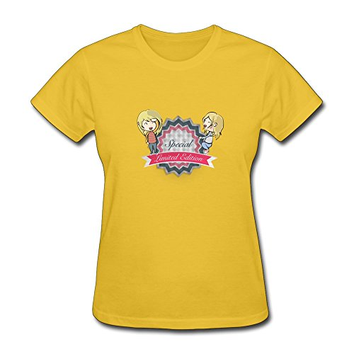 Special Limited Edition LogoT Shirt For Women Yellow ()