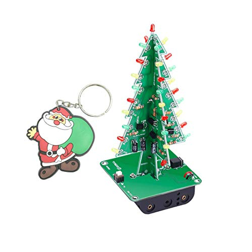- Vogurtime 3D Xmas Tree Led Color Flash Circuit DIY Kits with English Manual