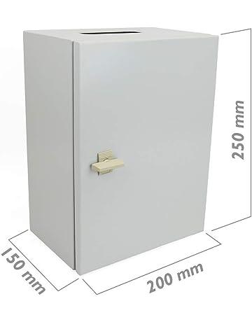 Cablematic Caja de Distribución Eléctrica metálica con Protección IP65 para Fijación a Pared 250x200x150mm