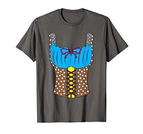 (Oktoberfest Dirndl T-Shirt | Women Lederhosen Costume)