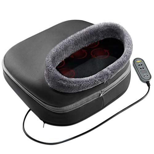 Belmint Shiatsu Foot Massager with Heat - Cozy Feet Warmers Dual Massage for Back Foot, Legs, Toe | Relax Muscles and Relives Back Pain