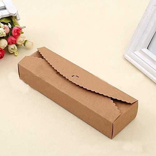 Uniqus Wholesale (30 Unidades/Lote) Caja de cartón Rectangular de Estilo Kraft, Caja de Regalo marrón Kraft, Caja de Papel Kraft para Tarta de Dulces: Amazon.es: Hogar