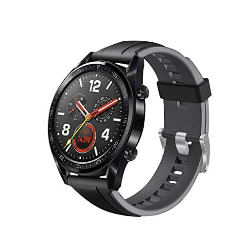 Finedayqi ❤ Silicone Band Replacement WristStrap for Huawei Watch GT Active 46mm Honor Magic (Gray)