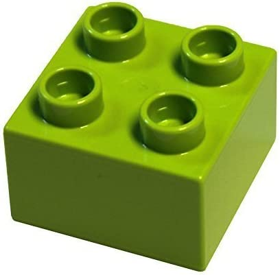 LEGO Parts and Pieces: DUPLO Lime (Bright Yellow Green) 2x2 Brick x20