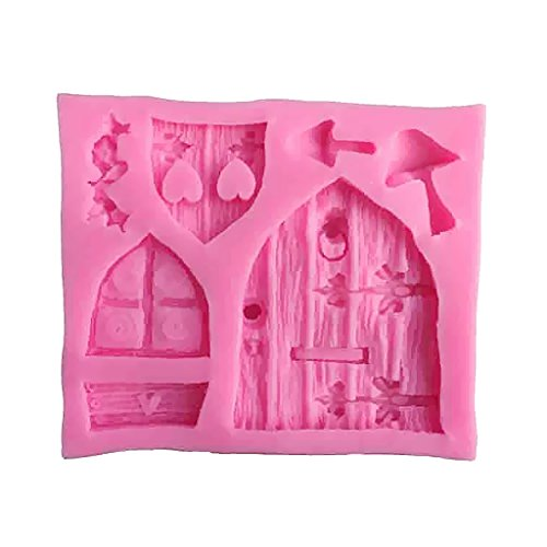 Dovewill 2pcs Silicone Cake Window Door Mould Cupcake Decorating Chocolate Mold Pink by Dovewill (Image #3)
