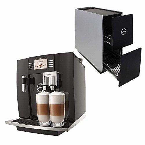 Jura 15066 Automatic Coffee Machine Giga 5, Piano Black with Jura 72229 Cup Warmer, Black