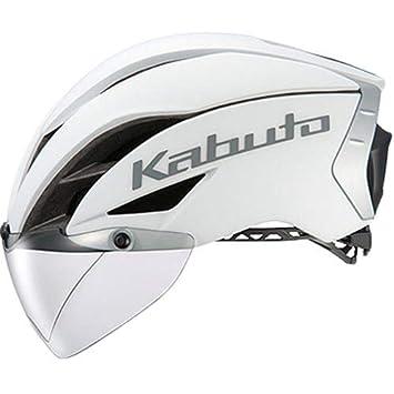 ホワイトダークグレー AERO-R1 ヘルメット S/ M (オージーケーカブト) (頭囲:55cm-58cm) OGK KABUTO