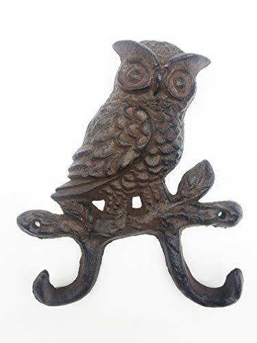 Cast Iron Wall Hanger Vintage Design Hooks Keys Towels Hook Metal Wall Mounted Heavy Duty Decorative Gift Idea (OWL-2)