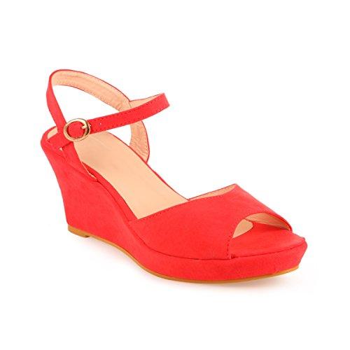 La Modeuse - Sandalias de Vestir Mujer Rojo - Rouge Pastèque