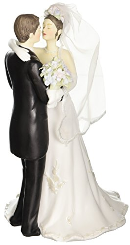 Appletree Design The Perfect Wedding Bride and Groom Figurine, 8-1/2-Inch Tall Antique Wedding Cake Toppers