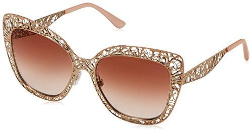 Dolce & Gabbana Women's Metal Woman Square Sunglasses, Pink Gold, 56 - Sunglasses Gabbana Dolce Gold And Flower