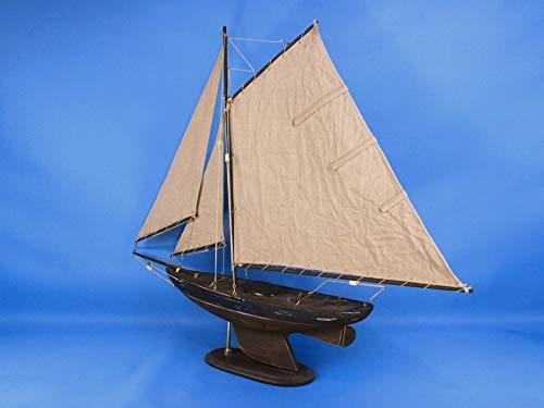 Wooden Rustic Newport Sloop Model Sailboat Decoration 30''