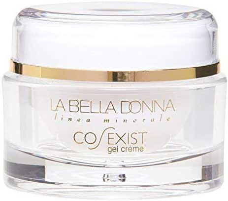 La Bella Donna CO-EXIST Anti-Aging Face Gel Creme (2 OZ.) - Aqueous Extract of Green Tea, Sodium Hyaluronate, Pentapetide-3, Retinol. Day and Night Moisturizing Gel Cream