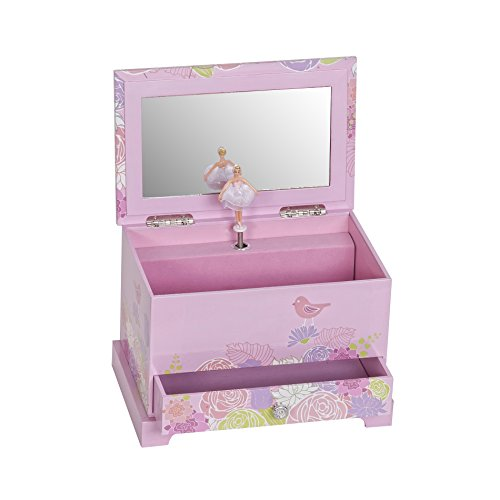 Mele & Co. Piper Girl's Musical Ballerina Jewelry Box (Bird & Blooms Design) by Mele & Co. (Image #1)
