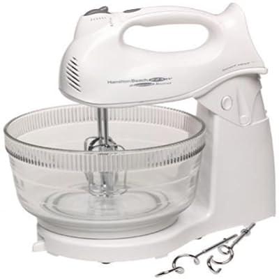 New shop Hamilton Beach Power Deluxe Hand Stand Mixer Brand Kitchen White Mixing Baking