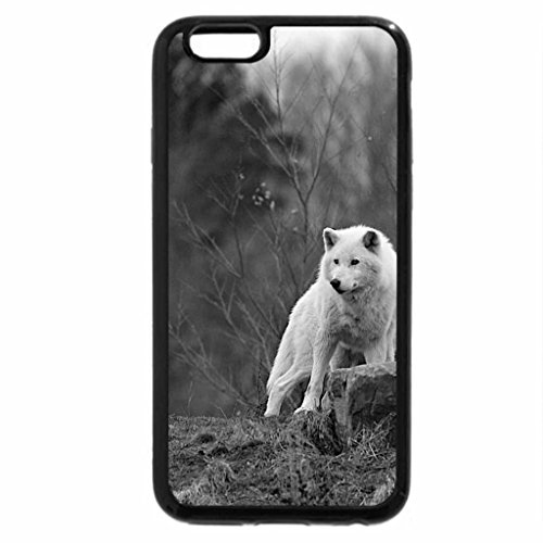 iPhone 6S Plus Case, iPhone 6 Plus Case (Black & White) - arctic wolf pack