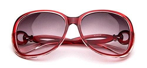 Rouge Design lunettes de pour femmes de Vintage Retro soleil mode qzOwFH