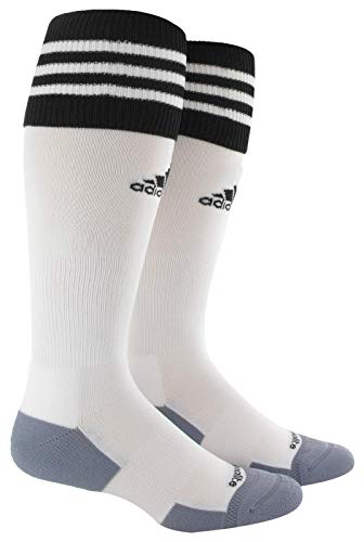adidas Unisex Copa Zone Cushion II Soccer Sock (1-Pair), White/Black, 5-8.5