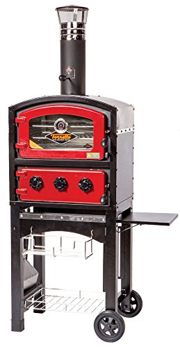 Alfresco Home 82-PZ-5WT-SRSS Fornetto Wood Fired Oven and Smoker, Red by Alfresco Home
