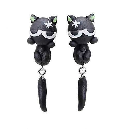 New Handmade Angry Cat Cute Animal Earring Stud Earrings for Women (Angry - Handmade Jewelry Animal