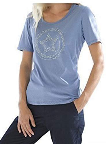 Serafini Azul De Con Mujeres Camisa Aplicaciones Tqp17IYw