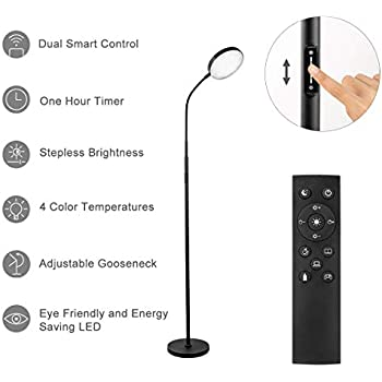 Joofo Floor Lamp 30w 2400lm Sky Led Modern Torchiere 3 Color Temperatures Super Bright Floor