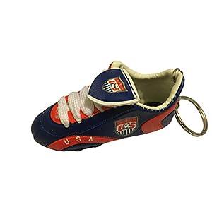 Football Soccer Futbol Mini Shoe KeyChains KeyRings - Americas (Country: USA)