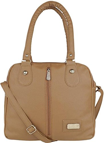 Typify Casual 3-Compartment Shoulder Bag With Sling Belt Women   Girl s  Handbag (Brown d3dbf06d4b