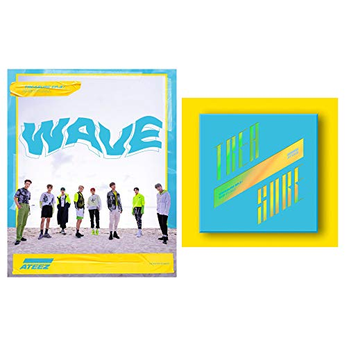 ATEEZ Treasure EP.3 PreOrder [Wave Version] ONE to All 3rd Mini Album CD+Poster+Photobook+3Photocards+8Postcards+Sticker+Gift(Extra 10 Photocards Set)