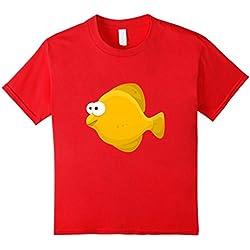 Kids Goldfish Fish t-shirt Orange Aquarium Fishbowl Fishy 8 Red
