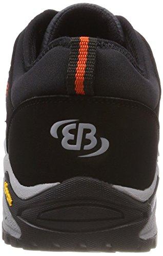 Anthrazit Negro Unisex Castor Zapatos de Low Adulto Anthrazit Schwarz Schwarz Orange Bruetting Rise Senderismo Orange 87YqwU5nx