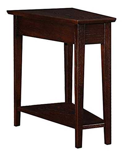 Amazon Com Leick Wedge End Table Chocolate Oak Kitchen