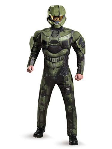 Disguise Men's Halo Deluxe Muscle Master Chief