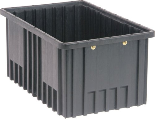 Quantum Storage Systems DG92080CO Dividable Grid Container 16-1/2-Inch Long by 10-7/8-Inch Wide by 8-Inch High, Black Conductive, 8-Pack by Quantum Storage Systems