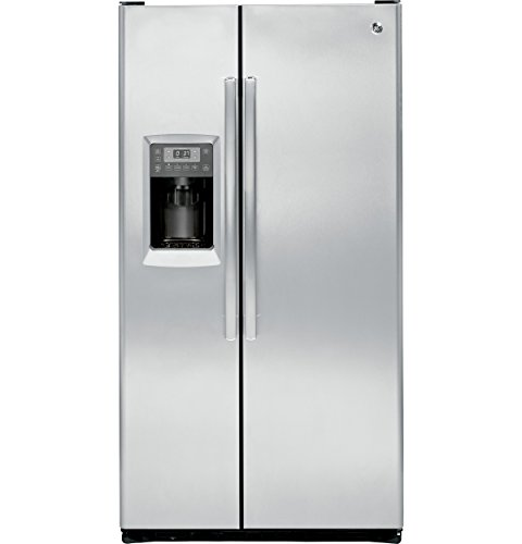 GE PZS23KSESS Profile 23.3 Cu. Ft. Stainless Steel Counter Depth Side-By-Side Refrigerator ()