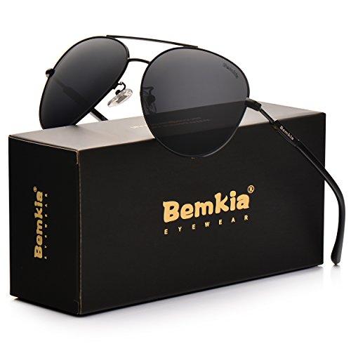 Bemkia Aviator Polarized Sunglasses Men Women 60mm Len Metal Frame UV400 – DiZiSports Store