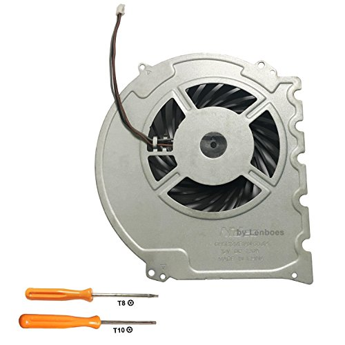 lenboes Internal CPU GPU Cooling Fan Replacement Part for Sony Playstation 4 PS4 Slim Console CUH-2015A CUH-2016A CUH-2017A CUH-20XX with Opening Tool Kit from Lenboes