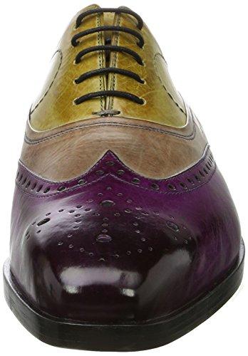 Melvin & Hamilton Lewis 4, Scarpe Stringate Oxford Uomo Multicolore (Crust Eggplant, Marble, Cedro, Ls Blk Crust Eggplant, Marble, Cedro, Ls Blk)
