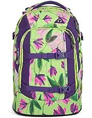 satch Pack Ivy Blossom, ergonomischer Schulrucksack, 30 Liter, Organisationstalent, Grün