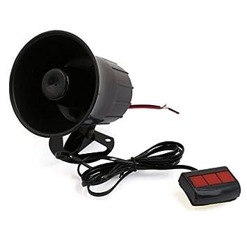 Amazon.com: eDealMax 3 suena un tono de coche de la motocicleta Van Loud Seguridad Sirena de Hornos 12V DC: Car Electronics