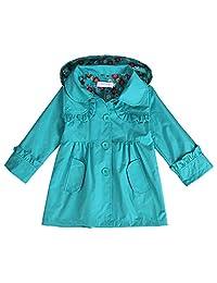 Arshiner Girl Kid Flower Waterproof Hooded Coat Jacket Outwear Raincoat Hoodies