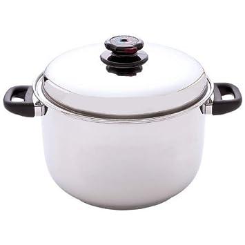 Control de vapor 12-quart olla sopera de acero inoxidable quirúrgico por control de vapor: Amazon.es: Hogar