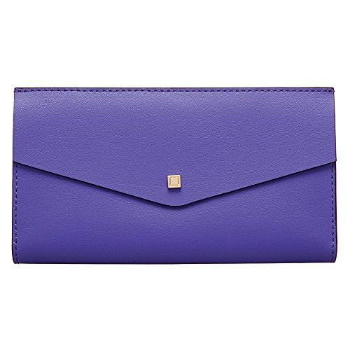Lodis Accessories Women's Blair Amanda Continental Clutch Violet/Cobalt Clutch - Continental Violets