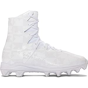 Under Armour Highlight RM Youth Lacrosse Cleats - White/Silver-4.0