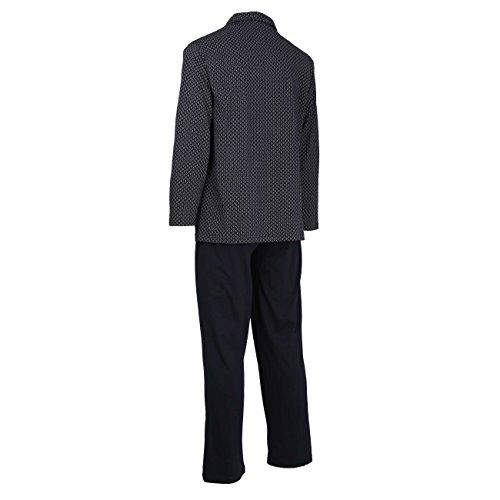 ... bedruckt GÖTZBURG Herren Pyjama, langarm, Baumwolle, Single Jersey, navy,  bedruckt ...
